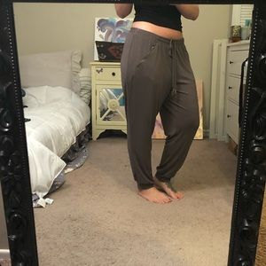 Nine West Casual Army Green Pant
